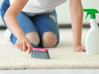 Clean Carpet by Hand