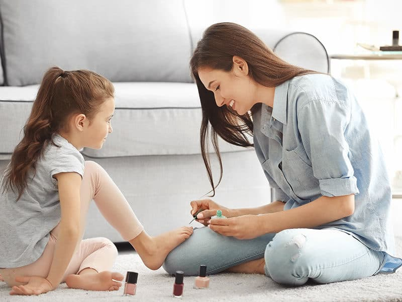 Painting Nails on Carpet