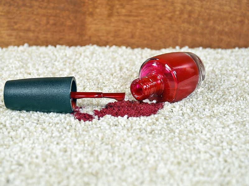 Red Nail Polish Spill
