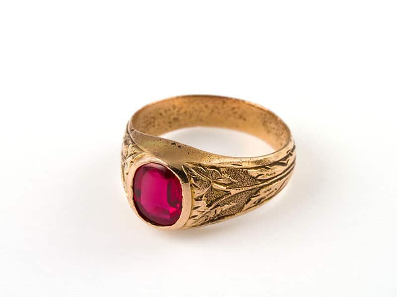 Antic Ruby Ring