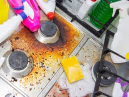 Dirty Kitchen Stove