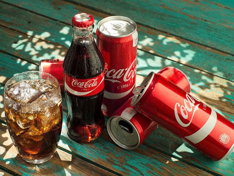 Glass Cocacola Clean