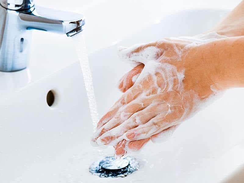 Use Soap Washing Hand