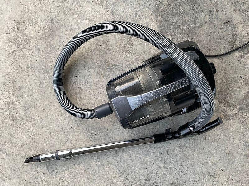 Vacuum Cleaning on Concrete Floor