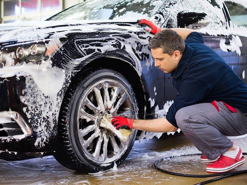 Washing Cars Wheels