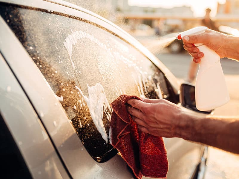Washing Windows Car