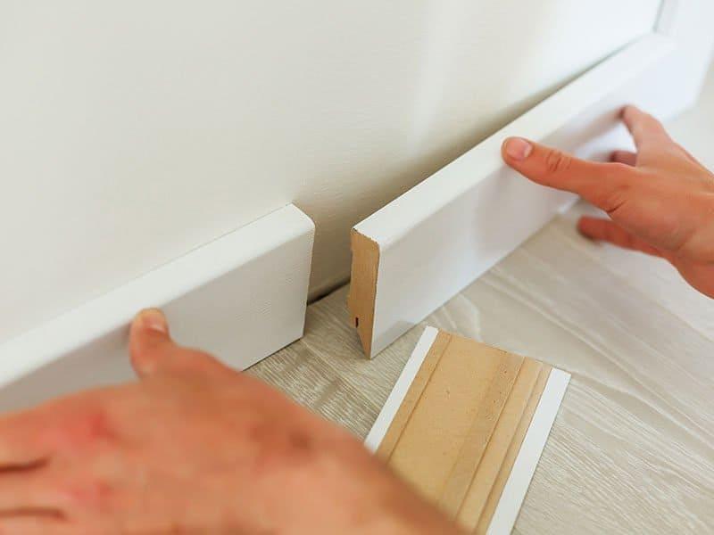 White Baseboard